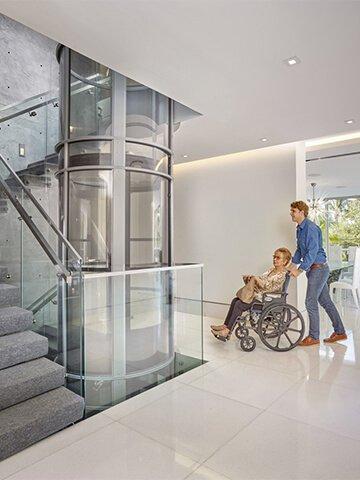 PVE52, Vakuumlift, Vakuumaufzug, Vakuum LIft, Vakuum Aufzug,Behindertenaufzug, pneumatischer Aufzug, pneumatische Aufzüge,Lift rollstuhltauglich,